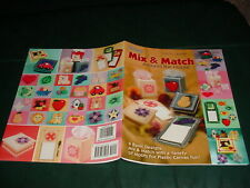 Mix & Match Plastic Canvas Patterns Book Magnets Tissue Boxes Animals Fruits +