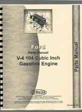 Ford V-4 104 Cubic Inch Engine Parts Manual Catalog