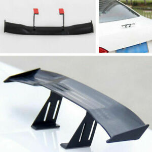 Vehicle Car 17cm Model Carbon Fiber Look Tiny Mini Rear Wing Spoiler Decoration