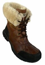 UGG Australia Butte Mens Snow Boots US 13 Waterproof Leather Brown Fur Cuff 5221