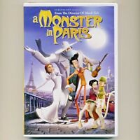 A Monster in Paris 2011 PG animated musical comedy movie set in 1910, new DVD