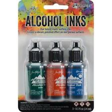 Alcohol Ink Ranger Tim Holtz 3 pk Rustic Lodge Battle Terra Cotta Denim 770