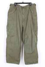 VTG M-1951 OD SATEEN FIELD MILITARY CARGO PANTS TROUSERS USA MENS SIZE 40X30