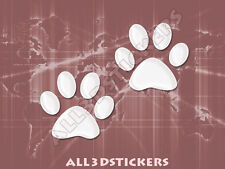 3D Sticker Decal Resin Domed Paws Adhesive Decal  White