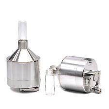 1 X Powder Grinder 56MM Spice Hand Mill Funnel Snuff Snorter Glass Vial -4 Parts