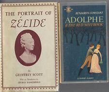 lot PORTRAIT OF ZELIDE Geoffrey Scott ADOLPHE RED NOTEBOOK by Benjamin Constant