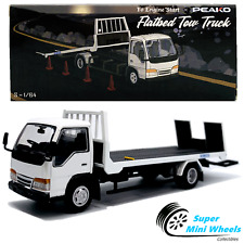 Y.E.S. x Peako 1:64 Isuzu Flatbed Tow Truck (White) with accessories