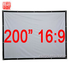 """200"""" 16:9 Home Office Outsides Film Movie LED DLP 3D Projector Projection Screen"""