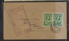 BECHUANALAND   (PP0609B) 1958 QEII 1/2D PR LOBATSI TO  CANADA  RETURNED