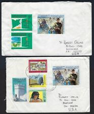 LIBYA US 1983 TWO EMBAGOED LIBYA COVERS THAT PASSED THROUGH THE MAIL TO US