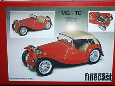 MG TC Midget model kit - white metal scale model to assemble and paint