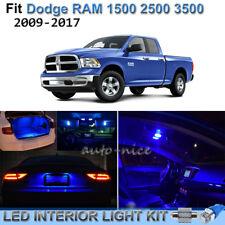 For 2009-2017 Dodge RAM 1500 2500 3500 Brilliant Blue LED Interior Lights Kit 8X