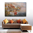 Modern Large Size Texture Decoration Sunset Oil Painting Mediterranean Wall Art