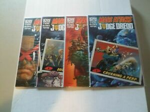 2013 Mars Attacks/Judge Dredd COMPLETE SET of 4 Comics (1-2-3-4) NM/1ST PRINTS!!