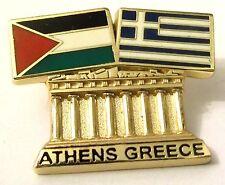 Pin Spilla Olimpiadi Athens 2004 Greece/Palestine Flags