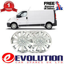 """4 X 16"""" SOLID SILVER UNBREAKABLE WHEEL TRIM COVER  FITS RENAULT TRAFIC, VIVORA"""