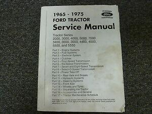 1965-1975 Ford 2000 3000 4000 5000 7000 3400 Tractor Shop Service Repair Manual