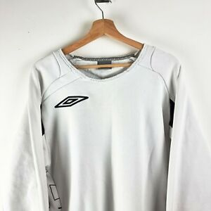UMBRO White Retro Sweatshirt / Jumper - Mens Large Y2K