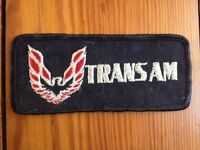 Vintage 70s 80s Trans Am Patch Black Red Silver Embroidered Rockabilly Patch