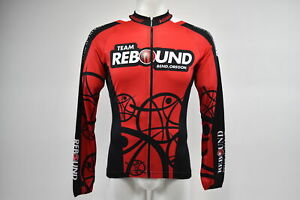 Verge Small Team Rebound Men's Classic Race L/S Lightweight Cycling Jersey, Red