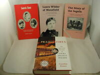 Laura Ingalls Wilder Biography Little House on the Prairie Author 4 Books SIGNED