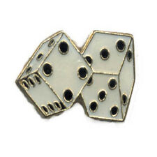 Pin Craps Dice Pin Fast Usa Shipping Dice White Dice 7 11 Lapel Hat