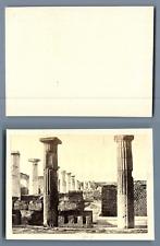 Italia, Pompei  CDV vintage albumen. Vintage Italy.   Tirage albuminé  6,5x1