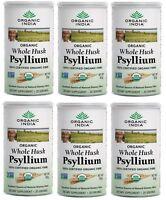 New Organic India Whole Husk Psyllium 100gm/3.5Oz Dietary Fiber USDA