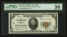 Fr 1870-D $20 1929 Federal Reserve Bank Note. PMG About Uncirculated 50