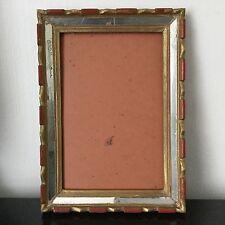 Beau Cadre Ancien Art Déco 1920 Avec Entourage Miroirs 31 cm x 22 cm