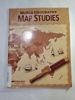 World Geography Map Studies 9th Grade Student Work Book Papercover Abeka