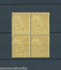 FRANCE COLONIES - 1881 YT 53 bloc de 4 - TIMBRE NEUF** LUXE - COTE 80,00 €