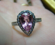 18K  PINK TOURMALINE- 2.50 CARAT & .72 CT DIAMOND RING - WHITE GOLD -  3.22 TCW