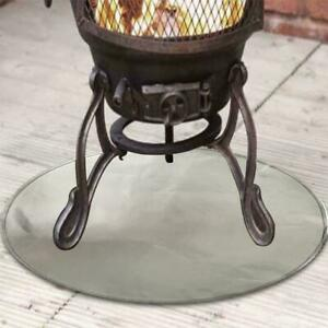 Fireproof Mat Fire Pit Pad Graden Deck Protector Great Cushion for BBQ Stove UK