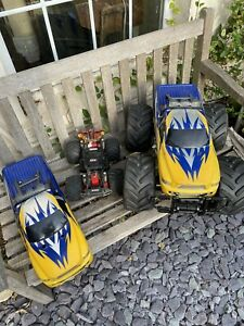 2 Off Road Large Monster Rechargeable Radio Remote Control Car  Rc Pickup Truck