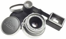 JUST SERVICED LEICA-M SUMMARON 1:3.5/3.5cm CAMERA LENS UVa CAPS GOGGLES 3.5/35mm
