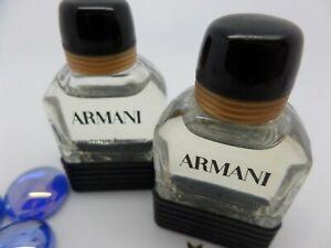 ARMANI eau pour Homme MEN edt MINI Miniature PERFUME 2 x 5ml Fragrance SET