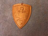 1927 UNIVERSITY OF MINNESOTA FOOTBALL HOMECOMING EMBOSSED PIN VS IOWA HAWKEYES