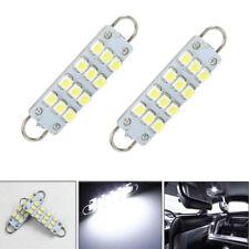 4pcs Car Light Bulb Led 561 562 567 12smd 44mm Rigid Loop Festoon Pure White