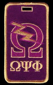 "Omega Psi Phi ""Omega Bolt"" new version Luggage Tag  L@@K AT THIS!!"