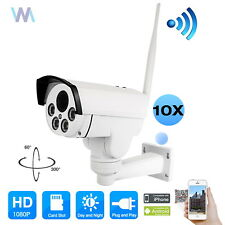 10X PTZ 1080P Full HD Wireless P2P IP Camera Wifi Security Outdoor Waterproof IR