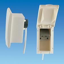 White TND External 13 amp Socket Box 240V Caravan Motorhome campervan  PO139 W