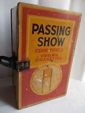 Antique Vintage PASSING SHOW CIGARETTES Advertising TIN BOX LONDON.. ADV EHS