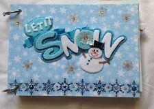 Winter Snow themed Chipboard Handmade Scrapbook Album