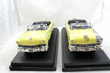 Ertl 1956 Ford Sunliner B4-N-After 2 Coche Juego 1:18 Amarillo 1of 2500 de Metal