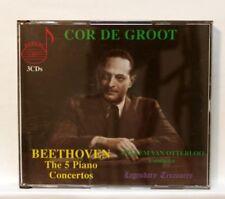 COR DE GROOT - BEETHOVEN the 5 piano concertos DOREMI 3xCDs NM