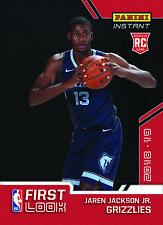 2018-2019 Panini First Look Jaren Jackson Jr. #TBD RC NBA Draft Rookie PS