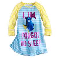 Disney Store Pixar Finding Dory NightGown Nightshirt PJ's Girls 4 5/6 7/8 New