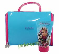 Escada Turquoise Summer 2 Pces Set +5.0 oz Body Lotion + Cosmetic Bag New