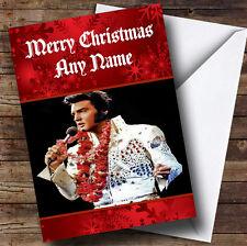 Red Elvis Presley Personalised Christmas Greetings Card